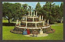 POSTCARD:  FLORAL CAKE, CYPRESS GARDENS, FLORIDA - HAPPY BIRTHDAY AMERICA, 1976