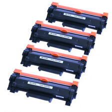 4 Packs TN760 Toner with chip For Brother DCP-L2550DW HL-L2350DW HL-L2370DW