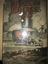 RHYMES OF A RED CROSS MAN BY ROBERT SERVICE  *FIRST ED*