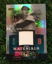 TED WILLIAMS 2006 UPPER DECK EPIC MATERIALS GAME JERSEY /99 RED SOX
