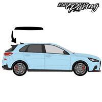 Dachkantenspoiler Folie Schwarz Glanz passend für Hyundai i30N Aufkleber DS012