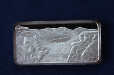 1975 America The Beautiful Hamilton Mint Rocky Mountains Silver Art Bar P0660