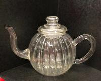 Vintage Bonjour Blown Glass Tea Pot with Infuser! Parisian style, GORGEOUS!
