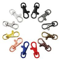 Oval Push Gate Spring Snap Open Hooks Spring Ring Key Carbine Camping B69