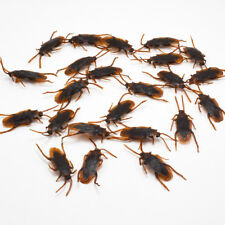 12Pcs Brown Cockroach Trick Toy Party Halloween Haunted House Prop Decor NEW