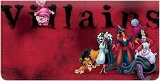 Disney Villains Leather Cover Checkbook Cover ID window & 4 credit card slits.