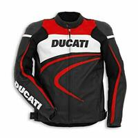 Ducati 981030352 Motorcycle C2 Perforated Leather Riding Jacket Black Size 52