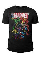 Marvel Comics - The Avengers Team Herren T-Shirt Thor Hulk (Schwarz) (S-XL)