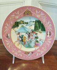 Heinrich Villeroy & Boch Porcelain Plate The King Of The Peacocks