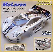 Carrozzeria Body 1/8 Rally Games McLaren vericiata e ritagliata GREY Grigio