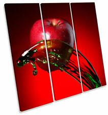 Apple Frutas Cocina Splash Plaza tela pared arte En Caja Enmarcado