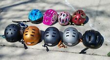 LOT OF BICYCLE HELMETS SKATEBOARD V1 PRO BELL GOGGLE SNOWBOARD BIKE KIDS Resale