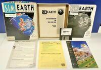 """Sim Earth For Mac 3.5"""" Floppy Big Box CIB Complete Macintosh Game Rare Vintage"""