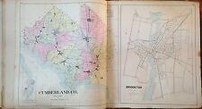 1905 CUMBERLAND COUNTY NEW JERSEY REPRODUCTION ATLAS MAP 24x36
