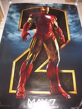 IRON MAN 2 2010 Iron-Man Ver Original DS 2 Sided 4x6' US Bus Shelter Poster