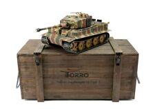 Torro 1/16 RC German WW2 Tiger 1 Heavy Tank RTR Metal Pro Edition Wooden Crate