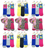 Girls/Ladies Novelty Minion Despicable Me Character Socks UK4-8 Christmas Gift