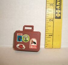 BARBIE DOLL VINTAGE BUSY HANDS BROWN SUITCASE #1 ACCESSORY