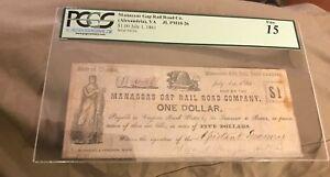 Manassas gap Railroad company $1 Alexandria Virginia July 1, 1861 PCGS F15 RARE