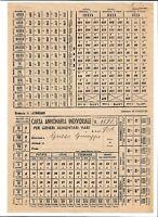 Regno Storia Postale  - 1944 - Carta Annonaria Individuale per Generi Alimentari