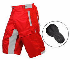 MTB Shorts ,Mountain Bike CoolMax Padded Shorts Inner Lycra Liner