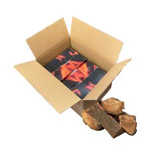 24kg Kiln Dried Oak Hardwood Logs Burner Pizza Oven Stove Open Fire Pit Fuel