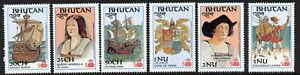 Bhutan 584-9 MNh Discovery of America, Ships, Columbus, Fish, Crest
