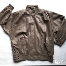 Big Ben Vintage Woman Leather Jacket Brown Size 16