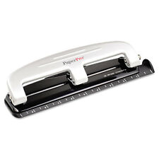 PaperPro 12-Sheet Capacity Three-Hole Punch, Rubber Base, Gray, EA - ACI2101