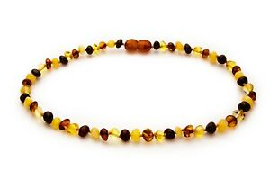 Raw Green Baltic Amber Necklace Handmade from 100% Genuine Baltic Amber Beads