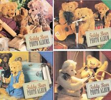 3 Teddy Bear Photo Albums In Slipcase Diecuts Cook Mechanic Woodworker Musician
