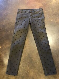 Stella McCartney Black Embroidered Star Dot Skinny Cropped Jeans 29 M