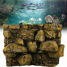 3d PU Rock Stone Aquarium Background Backdrop Reptile Board Fish Tank Decoration