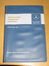 Mercedes Benz  Technical Data / Transporters + Buses Manufacture 1981