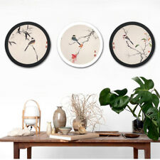 Bedroom Decoration Modern Round Photo Frame Wooden Hanging Picture Holder New