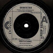 SHAKATAK Invitations Vinyl Record 7 Inch Polydor POSP 502 1982