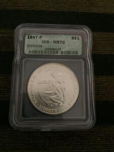 1997-P Law Enforcement Commemorative Silver Dollar - MS-70 ICG