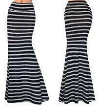 Gonna Lunga Donna Maxi a Righe - Woman Maxi Printed Stripes Skirt 130052 P