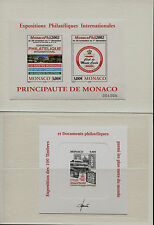 Monaco - 2002 - Monacophil + Prova d'artista - MNH