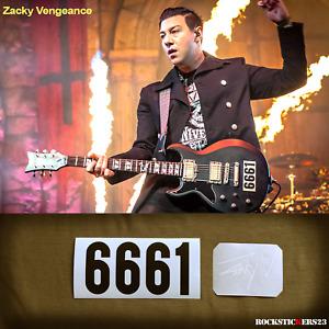 Zacky Vengeance guitar sticker 6661 vinyl Avenged Sevenfold Schecter Reissue LH