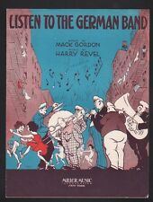 Listen to the German Band 1932  Sheet Music