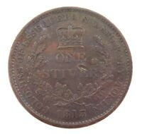.1813 NICE HIGH GRADE ESSEQUIBO & DEMERARY, BRITISH (GUYANA) ONE STIVER TOKEN.