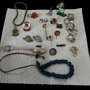 💥 LOT,Vintage Retro Mixed Allsorts Badges/Pins etc Royal flying doctor's spoon