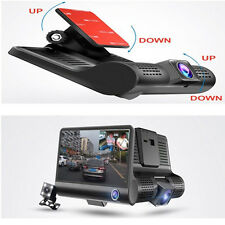 New 4'' HD 1080P Car DVR 3 Camara Lens With Rear View Video Recorder Camcorder