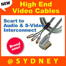 High-end Origin Scart to Audio & S-Video Interconnect AV cable 1.5M RRP* $109.95
