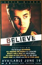 JUSTIN BEIBER Believe Ltd Ed Discontinued RARE Poster +FREE Pop/R&B/Rock Poster!