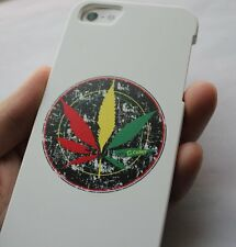 iPhone SE 5S SNAP ON BACK PROTECTOR CASE REGGAE RED YELLOW GREEN CANNABIS LEAVE