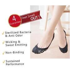 2 Pairs No Show Gel Nonslip AntiFungi Deodorant Womens Mens Loafer Socks