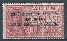 1917 REGNO POSTA AEREA ROMA TORINO MNH ** RR2568