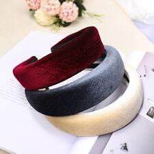 Women's Velvet Headband Hairband Padded Wide Hair Hoop Accessories Headpiece